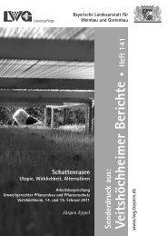 Schattenrasen Utopie, Wirklichkeit, Alternativen - Gartenakademie
