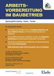 Arbeits- Vorbereitung im bAubetrieb - Linde Verlag
