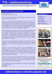Informationen - Fachverband Technischer Austrocknungssysteme eV