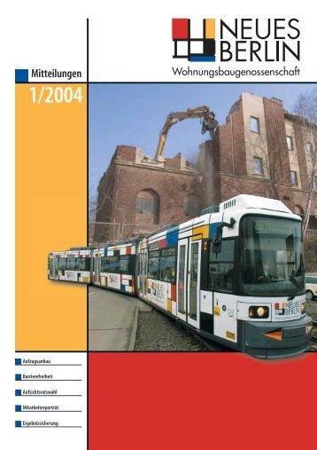 1/2004 - Wohnungsbaugenossenschaft Neues Berlin