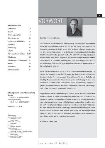 Standortentwicklung Tiefriet - Gemeinde Sargans