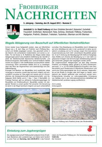 Illegale Ablagerung von Bauschutt auf öffentlichen ... - Frohburg