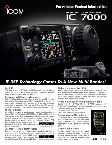 Digital voice recorder (DVR) Flexible installation with ... - Icom UK