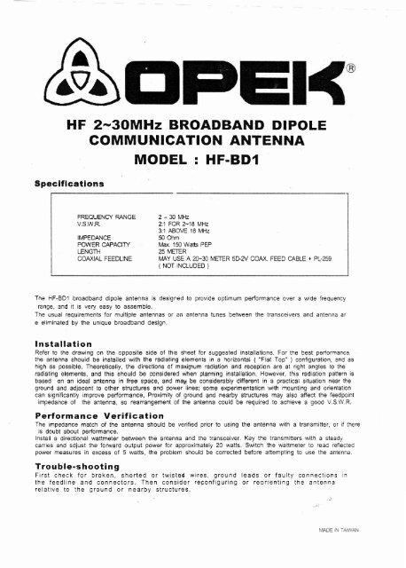 Hf Antenna Design