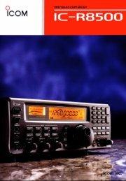 IC-R8500 Prospekt - Mods-ham.Com