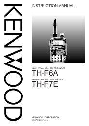 TH-F6A TH-F7E - Kenwood