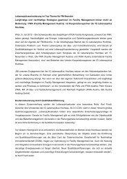 Pressemeldung Neue Kooperation FMA, IFMA Austria und