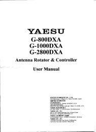 Page 1 YAE SU G-SÜÜDXA G-IÜOODXA G-ZSOÜDXA Antenna ...