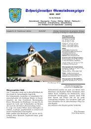 Schneizlreuther Gemeindeanzeiger - Schneizlreuth – Baumgarten