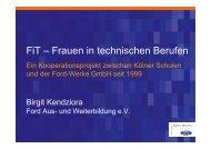 FiT – Frauen in technischen Berufen - Stiftung Partner für Schule NRW
