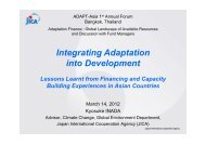 2. Integrating Adaptation into Development - ADAPT Asia-Pacific