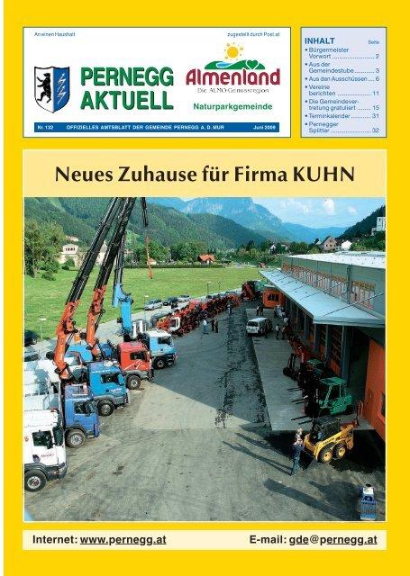 Neues Zuhause für Firma KUHN - Gemeinde Pernegg