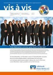 vis à vis vis à vis - Volksbank Rhein-Wehra eG