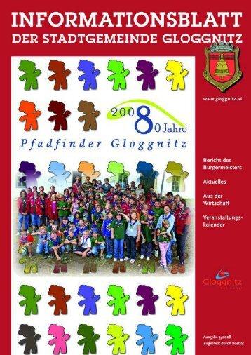 Informationsblatt 3/2008 - Stadtgemeinde Gloggnitz