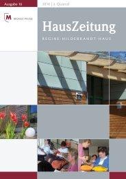 HausZeitung - WKZ Regine-Hildebrandt-Haus