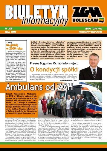 O kondycji spółki - ZGH Bolesław