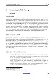 9 Terminzwänge im VOB - Vertrag - PRONAG
