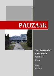 Stredná priemyselná škola strojnícka Duklianska 1 Prešov