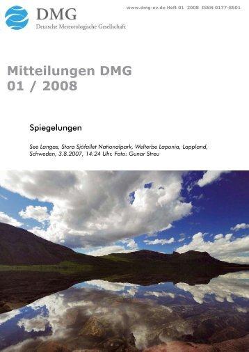 Mitteilungen DMG 01  / 2008 - Deutsche Meteorologische ...
