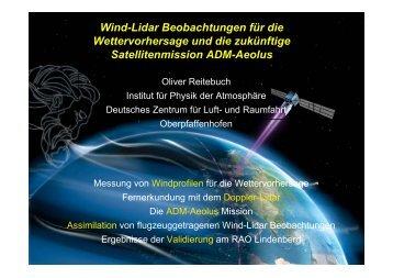 Wind-Lidar Beobachtungen für die Wettervorhersage und die ...