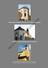PDF Bericht Befundung Altenmarkt - Restaurierung/Voithofer