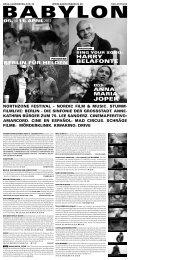 kathrin bürger zum 75. lee sanderz. cinemaperitivo - Babylon