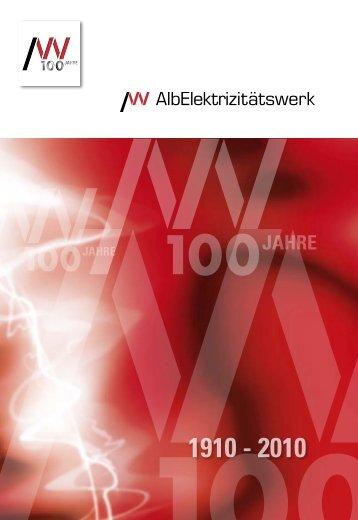 Festschrift 100 Jahre Albwerk - Alb-Elektrizitaetswerk Geislingen ...