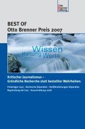 BEST OF Otto Brenner Preis 2007 - Otto Brenner Shop