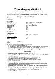 Verhandlungsschrift 2-2011 - Gemeinde St. Veit/Innkreis