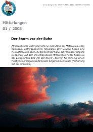 Heft 1/2003 - Deutsche Meteorologische Gesellschaft eV (DMG)