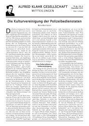 Kulturvereinigung der Polizei - Alfred Klahr Gesellschaft