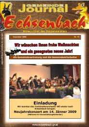Gemeindejournal Nr. 75 Dez. 2008 - Marktgemeinde Echsenbach