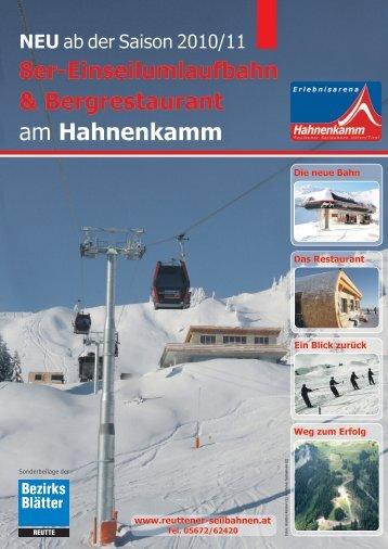 Hahnenkamm Magazin.indd - Reuttener Seilbahnen