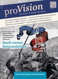Duell zweier Netzwerkritter - proVision - Versichern. Verkaufen ...