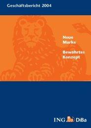 Jahresbericht 2004 (PDF, 613 KB) - ING-DiBa