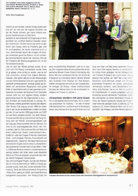 Herbst 2007 - Leipziger Blätter - Round Table Leipzig RT203