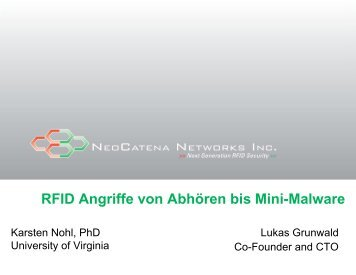 RFID Angriffe von Abhören bis Mini-Malware - DN-Systems
