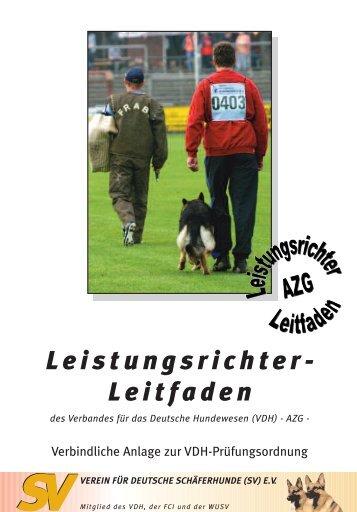 AZG-Leistungsrichter-Leitfaden - Dobermann - Sport und Zucht
