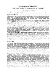 LINEE GUIDA – EBM SULLA DIAGNOSI E TERAPIA DEL LINFEDEMA
