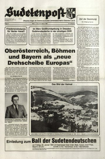 neue Drehscheibe Europas - Sudetenpost