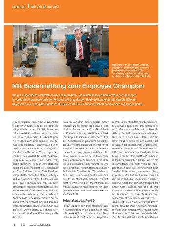 Mit Bodenhaftung zum Employee Champion - Archiv ...