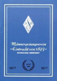 100 Jahre Männergesangverein Eintracht von 1877 - Chronik der ...