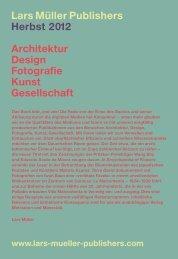 Neuerscheinung Architektur - Lars Müller Publishers