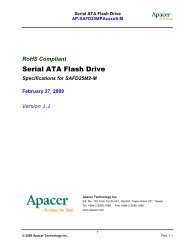 Specifications for SAFD25M2-M February 27, 2009 Version ... - Apacer