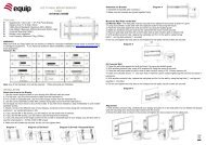 LCD TV WALL MOUNT BRACKET FIXED Features INSTALLATION
