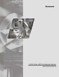 Benutzerhandbuch L2230x Wide USB Port Replicator ... - Lenovo
