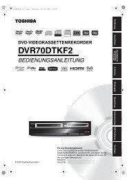 DVD-VIDEOKASSETTENREKORDER ... - Toshiba-OM.net