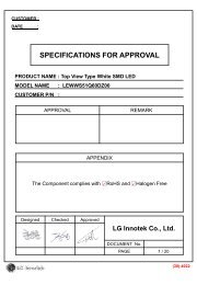 specifications for approval