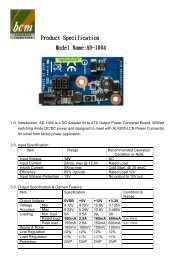 Product Specification Model Name:AD-1004 - Rosch Computer GmbH