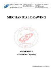 MECHANICAL DRAWING OAD02000515 FSP180-50PLA(F041)